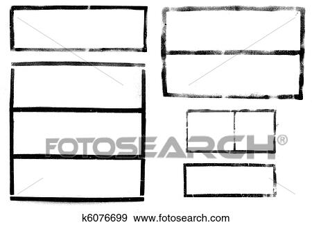 Stock Photograph of spray-paint industrial frames alpha template for ...