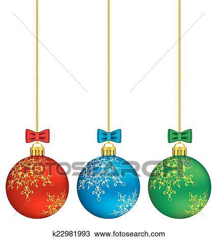 Christmas Chain Clipart.Christmas Balls On Chain Clipart