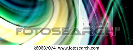 Fluid Colors Abstract Background Colorful Poster Twisted Liquid Design On Black Colorful Marble Or Plastic Wave Texture Backdrop Multicolored