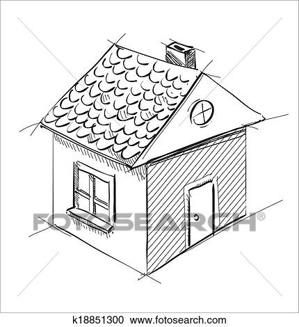 clipart of little cartoon house k18851300 search clip art Cartoon Houses with Black and White Rooms clipart little cartoon house fotosearch search clip art illustration murals drawings