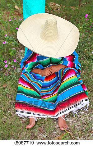 d714db035 Mexican, lenivý, sombrero, klobúk, clovek, pončo, pospať si, do, záhradný,  svojbytný, topic