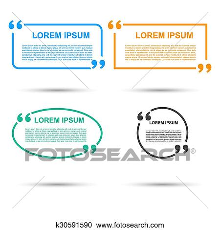 Quotation Speech banner  Quote vector set icon  Clipart
