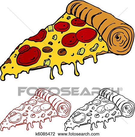 Clipart Succoso Fetta Pizza K6085472 Cerca Clipart