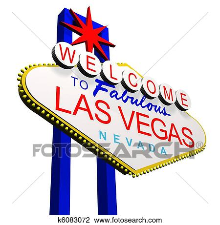 clip art of welcome to las vegas k6083072 search clipart rh fotosearch com las vegas clip art black and white las vegas clipart