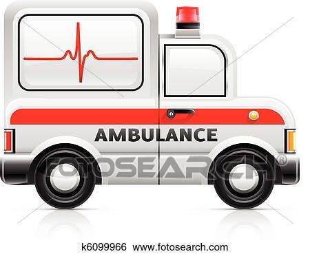 سيارة إسعاف سيارة Clip Art K6099966 Fotosearch