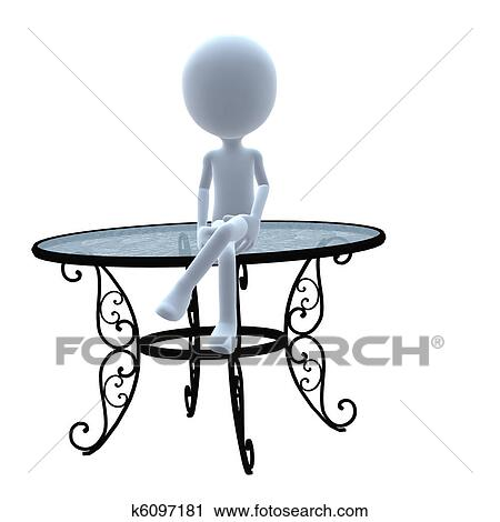 Clipart Guy Patio Furniture Fotosearch Search Clip Art Ilration Murals