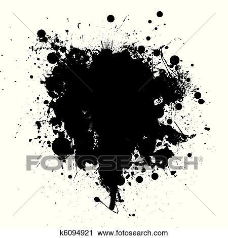 clipart of black ink splatter k6094921 search clip art