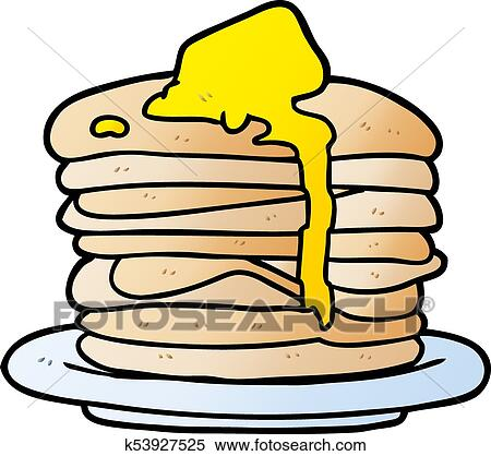 clipart of cartoon stack of pancakes k53927525 search clip art rh fotosearch com pancakes clip art free pancake clip art banners free