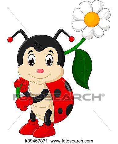 Clipart coccinelle dessin anim k39467871 recherchez des clip arts des illustrations des - Dessin cocinelle ...