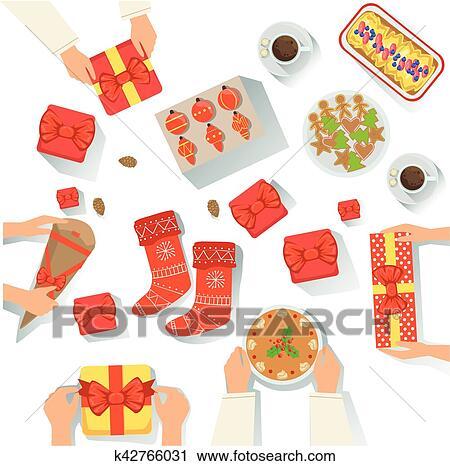 Famille A Les Traditionally Servi Noel Celebration Repas