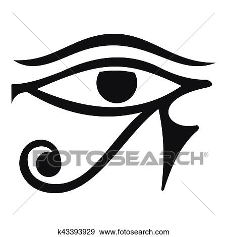 Oeil De Horus Egypte Divinite Icone Simple Style Clipart K43393929 Fotosearch