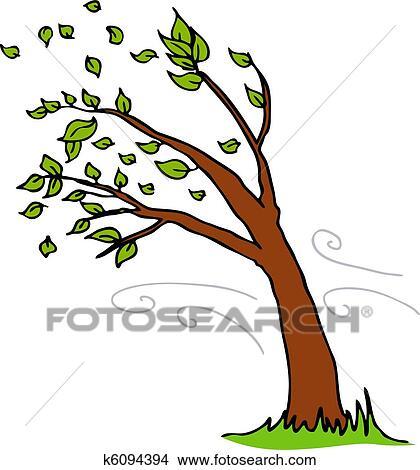 clipart of wind blowing leaves off tree k6094394 search clip art rh fotosearch com clipart windows live clipart wind turbine vestas