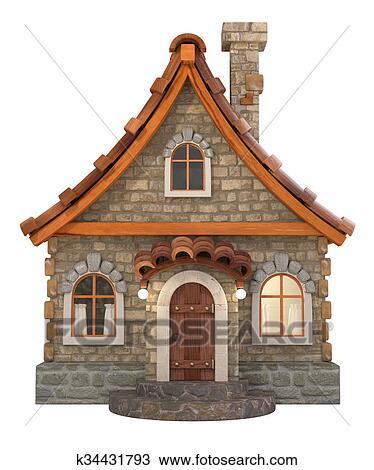 Banque De Photo 3d Maison Dessin Animé Illustration K34431793