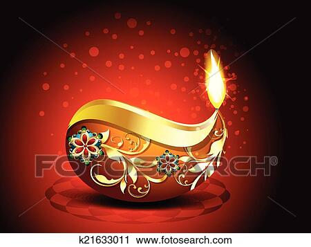 Abstract Happy Diwali Background Clipart K21633011