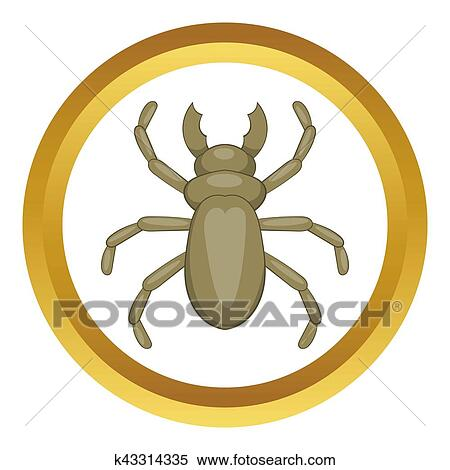 Stock Illustration Kafer Holzwurm Symbol K43314335 Suche