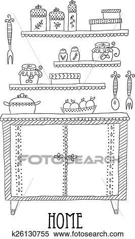 Clipart Of Kitchen Set Design Elements Of Kitchen K26130755