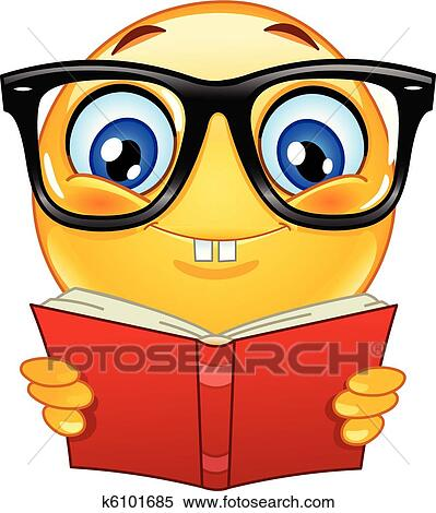 clipart of nerd emoticon k6101685 search clip art illustration rh fotosearch com nerd clipart black and white clipart nerd glasses