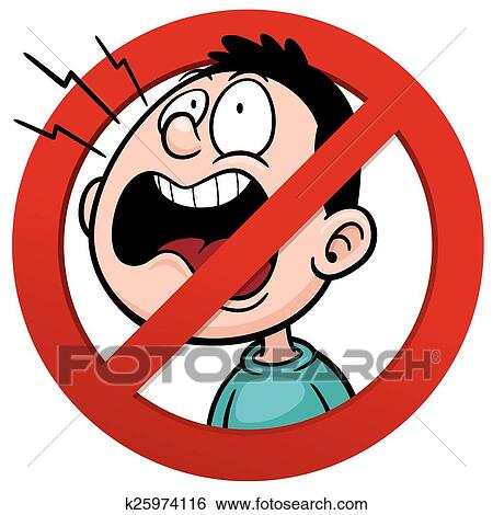 clip art of no talking k25974116 search clipart illustration rh fotosearch com No Talking Sign no talking clipart