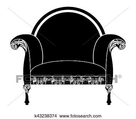Clipart - vendimia, tapizado, sillón k43238374 - Buscar Clip Art ...