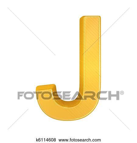 Stock Illustration Of Golden Letter J K6114608 Search Eps Clip Art