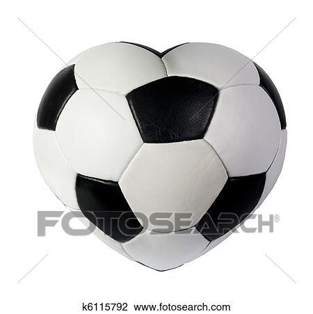 clip art of heart as black white soccer ball k6115792 search