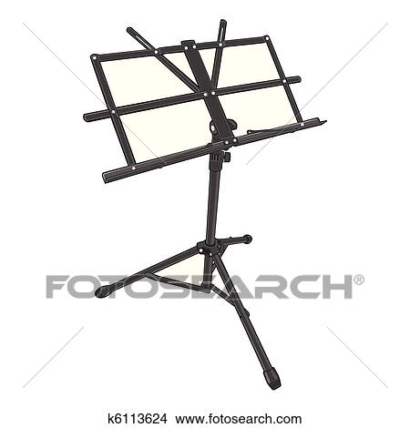 Clipart Of Isolated Music Stand K6113624 Search Clip Art