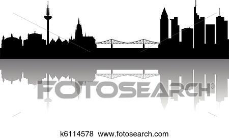 clip art frankfurt skyline abstrakt k6114578 suche clipart poster illustrationen. Black Bedroom Furniture Sets. Home Design Ideas
