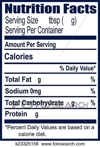 Clip Art Of Nutrition Facts K23325156