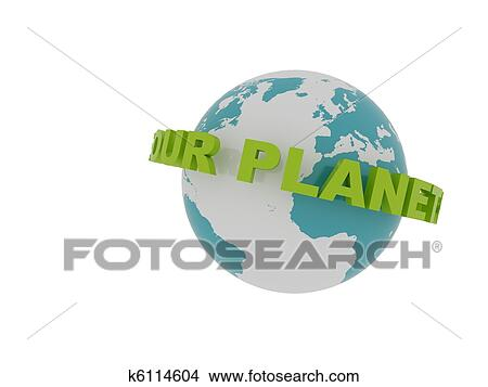Drawings Of Save Our Planet Spinning Around The Earth K6114604