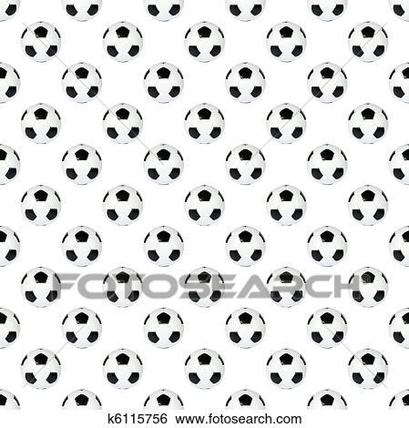 Schwarz Weiss Fussball Ball Stock Fotograf K6115756