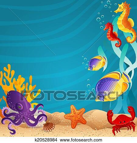 Sea Bottom Clipart K20528984 Fotosearch