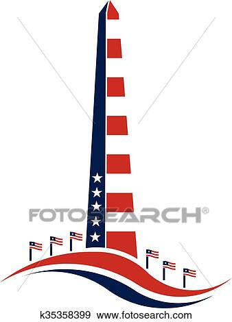 clip art of washington monument stars and stripes concept of rh fotosearch com