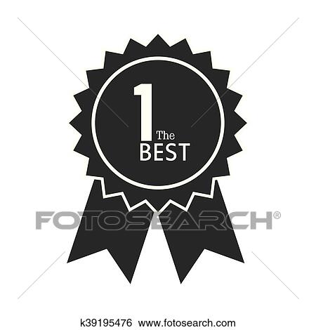 First /1st Place Gold Medal With Number 1 And Ribbon Line Art.. Royalty  Free Cliparts, Vectors, And Stock Illustration. Image 118412050.