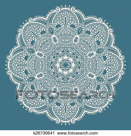 Clipart of circle decorative spiritual indian symbol of lotus flower clipart circle decorative spiritual indian symbol of lotus flower fotosearch search clip art mightylinksfo