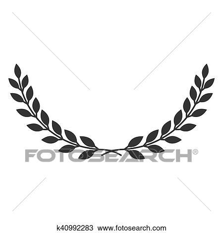 Couronne Laurier Symbole Dessin K40992283 Fotosearch