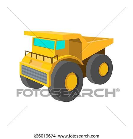 Dessin - grand camion, dessin animé, icône. Fotosearch - Recherche de Clip  Arts 4882bab8c2aa