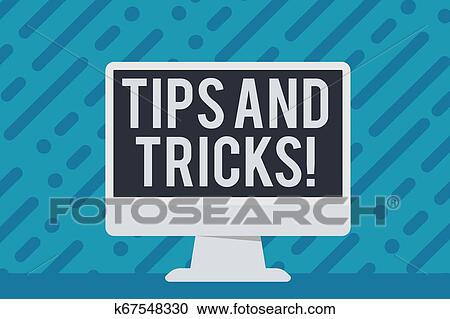 Handwriting text writing Tips And Tricks  Concept meaning means piece  advice maybe suggestion how improve Blank Space Desktop Computer Colorful