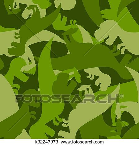 Clipart Of Military Pattern Dinosaur Army Texture Of Tyrannosaurus New Army Pattern