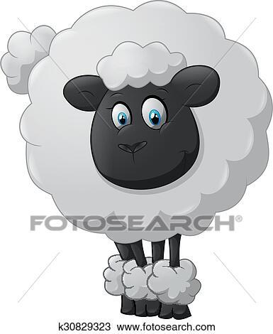 Clipart mouton dessin anim k30829323 recherchez des - Mouton dessin anime ...