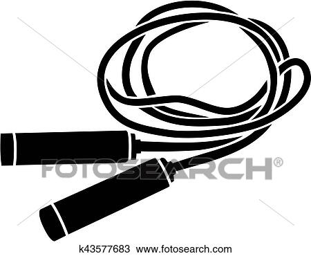 clipart of skipping rope silhouette k43577683 search clip art