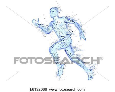 動くこと 人 液体 アートワーク 運動選手 数字 動き 作られた の