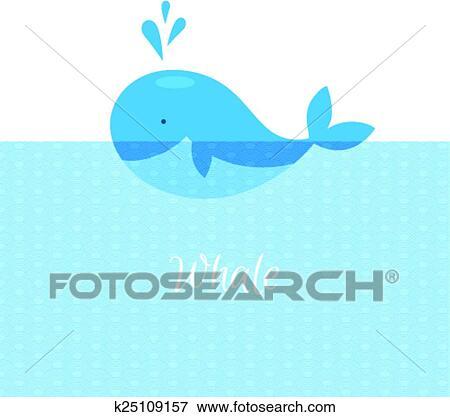 青クジラ で 海 クリップアート K25109157 Fotosearch