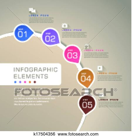 Clip art of abstract flow chart infographics k17504356 search modern vector abstract flow chart infographic elements ccuart Image collections