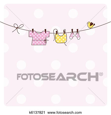 Clipart Of Baby Shower Invitation Card K6137821 Search Clip Art
