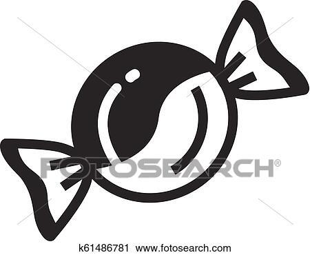 Bonbon Icon Simple Style Clipart