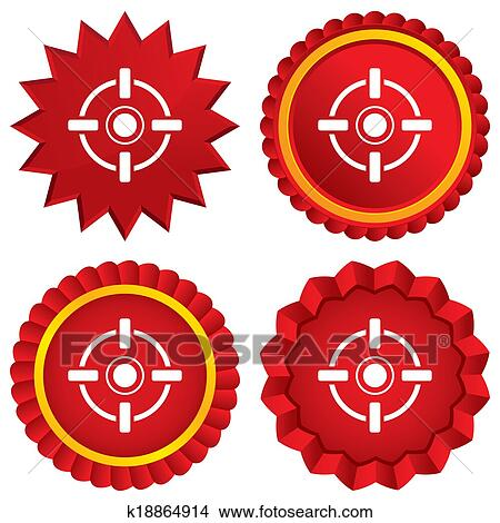 crosshair sign icon target aim symbol stock illustration k18864914 fotosearch fotosearch