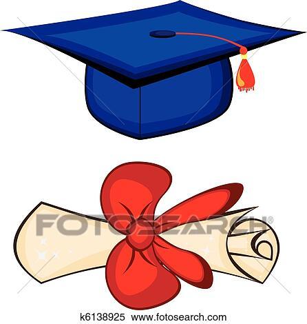 Clipart Diploma E Berretto Laurea K6138925 Cerca Clipart