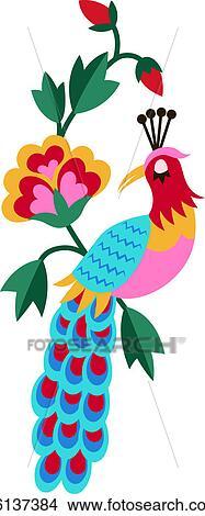 Pavao Flor Bordado Desenho Arquivos De Ilustracao K6137384