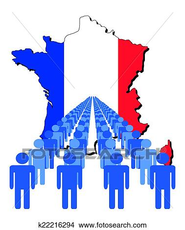 France Map Flag.Clipart Of People With France Map Flag K22216294 Search Clip Art