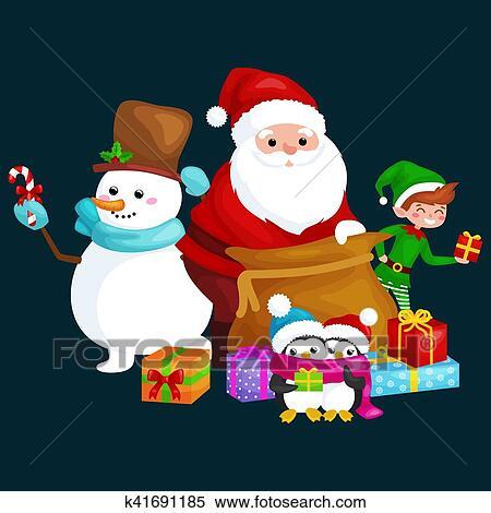 c7de6e37236fa Santa Claus sack full of gifts